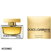 121062 DOLCE GABBANA THE ONE 2.5 OZ